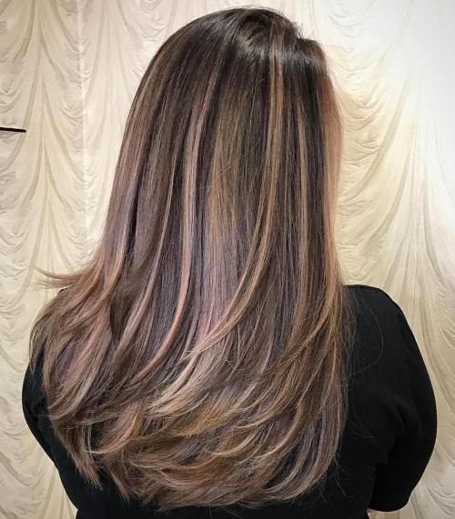 haircuts for long thick hair with layers and side bangs 60 most beneficial haircuts for thick hair of any length 4569 | 14 layered haircut for long thick hair