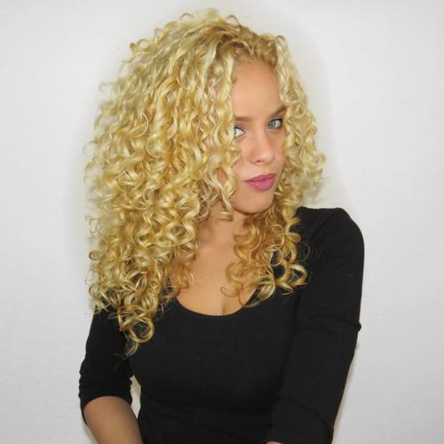 Blonde Perm Hairstyle
