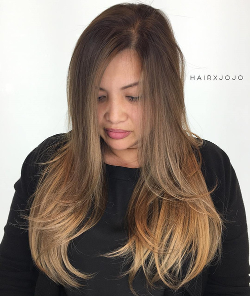 Long Hairstyle For Round Face