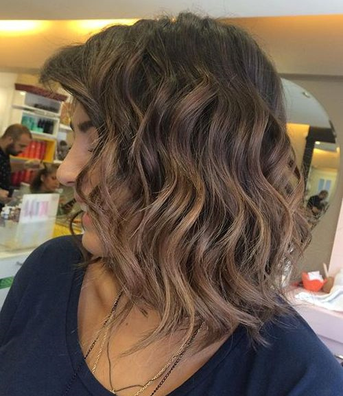 long brunette hair styles 40 different versions of curly bob hairstyle 2208 | 15 long wavy brunette bob with subtle ombre