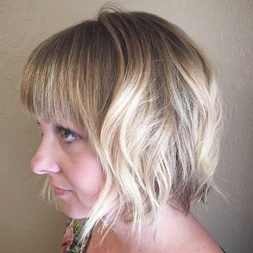 Short Wavy Bob With Bangs