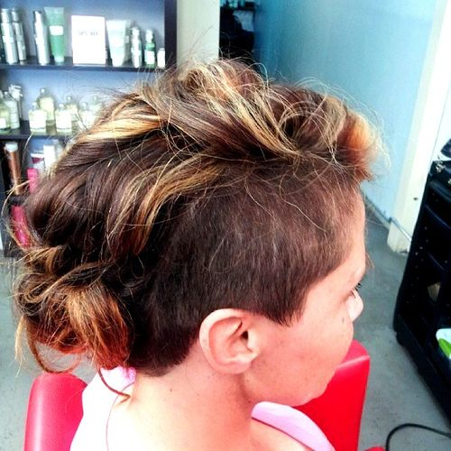 long top short sides mohawk for women