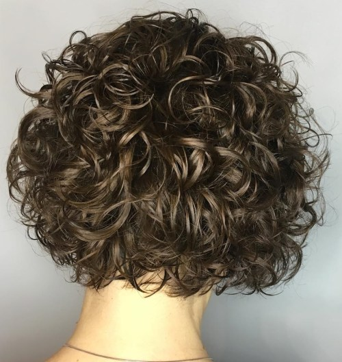 Short Curly Messy Bob