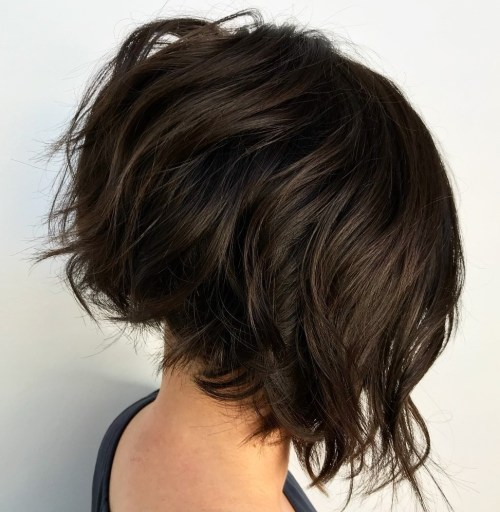 Short Slanted Jagged Bob