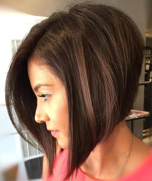 Side-Parted Angled Bob