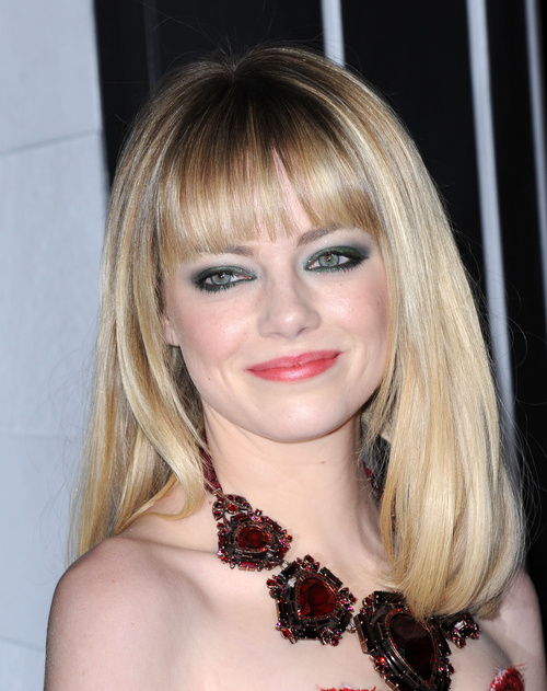 long bob haircut with bangs for round face