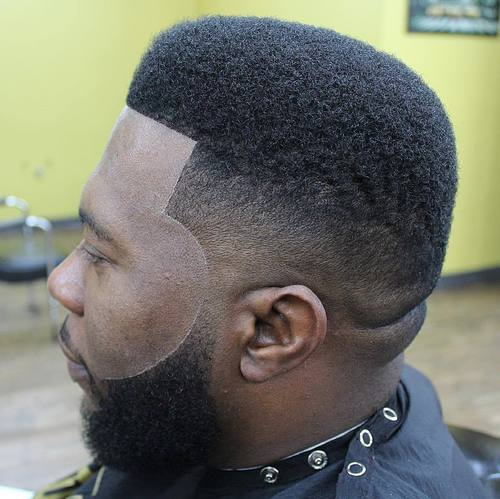polished high top fade for black men