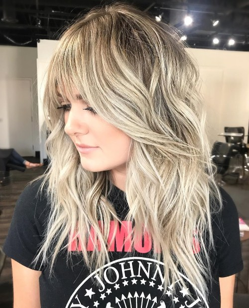 Long Wavy Beachy Blonde Shag