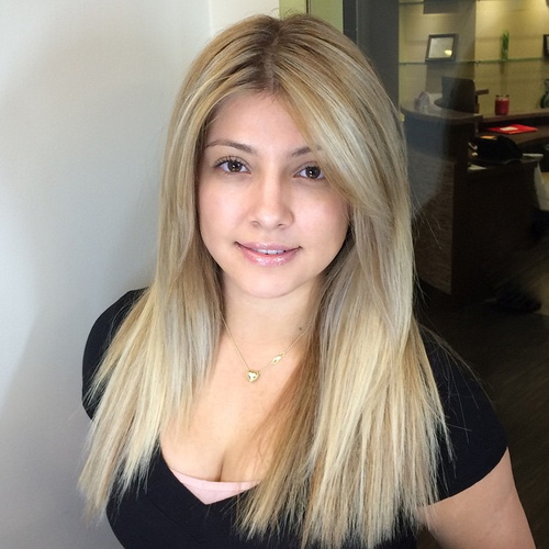 Straight Brown Blonde Hairstyle
