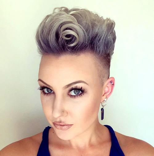 Outstanding 25 Exquisite Curly Mohawk Hairstyles For Girls Amp Women Hairstyle Inspiration Daily Dogsangcom