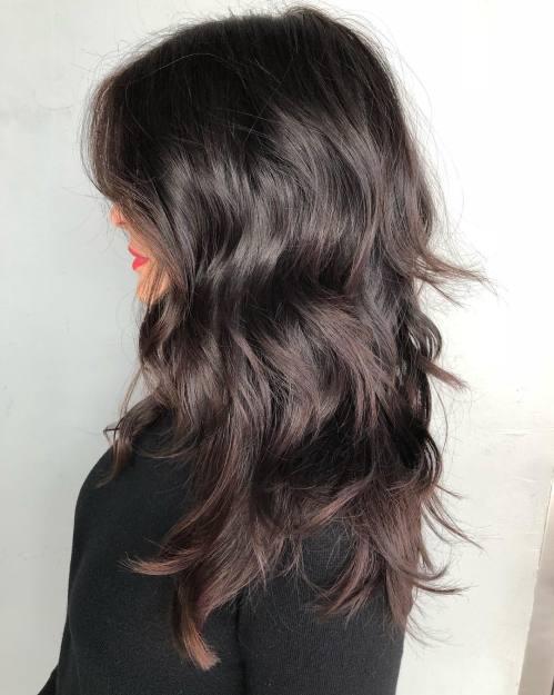 Long Choppy Shag Hairstyle