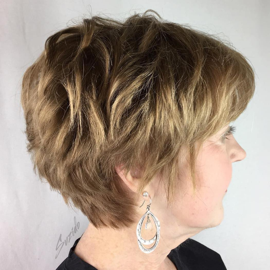 Attractive Long Pixie For Older Women