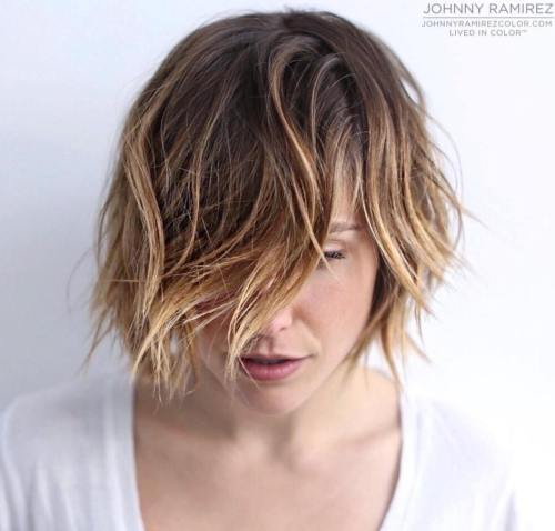 Short Layered Ombre Bob