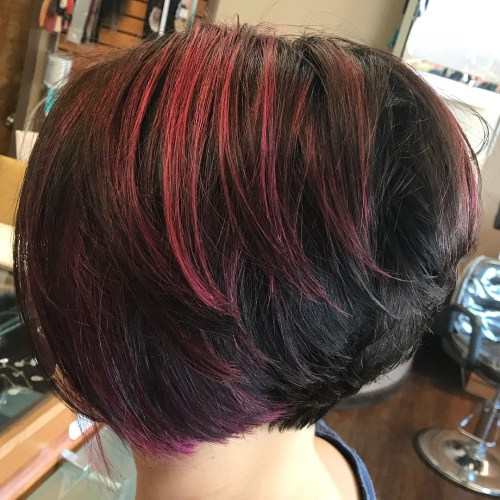 Short Stacked Bob Cut