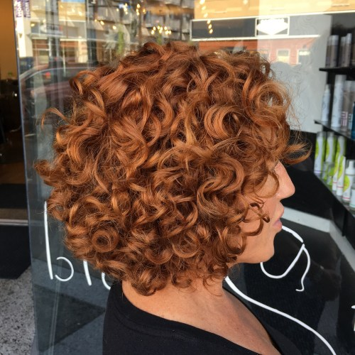 Short Curly Copper Red Bob