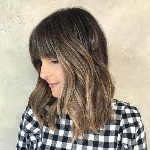 Light Brown Balayage For Medium Hair