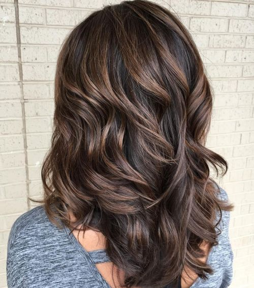 Layered Brown Hair With Subtle Balayage