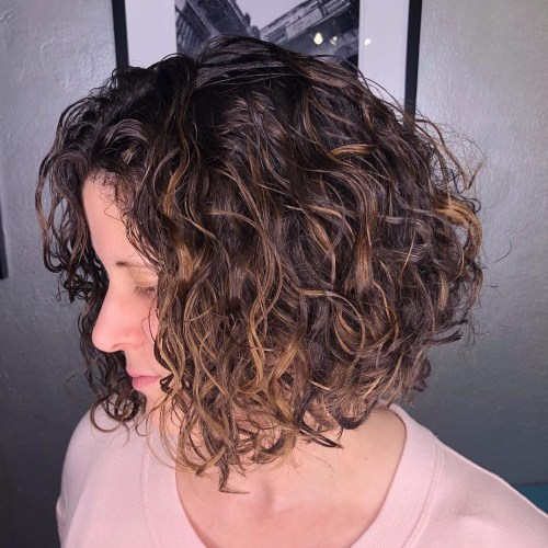 different curly hair styles 50 different versions of curly bob hairstyle 3754 | 27 curly brown bob with caramel highlights
