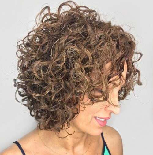 Light Brown Curly Bob