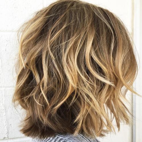 Medium Choppy Cut For Thick Curly Hair