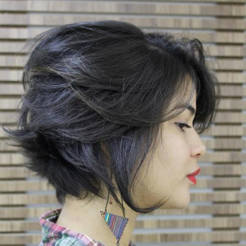 40 cute looks with short hairstyles for round faces tousled bob hairstyle urmus Choice Image