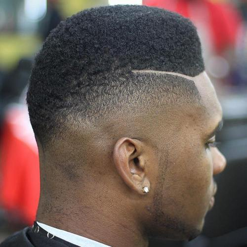 High Top Fade With Disconnected Side Part