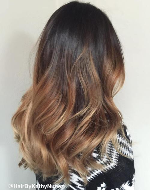 Ombre hair color blue tips