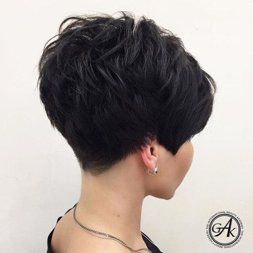 Low Maintenance Pixie For Thick Hair