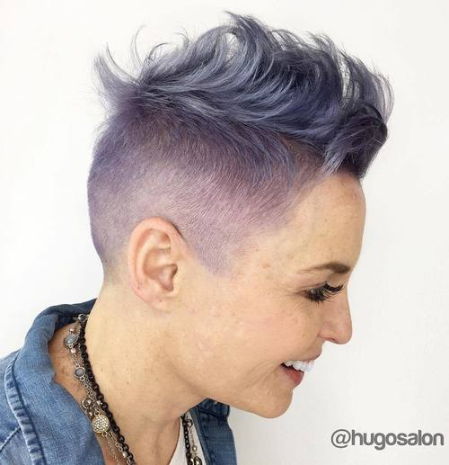 Pastel Purple Mohawk Hairstyle