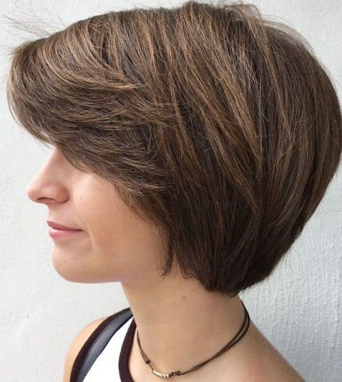 Short Bob With Layered Bangs