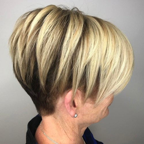 Undercut Pixie Bob For Older Women