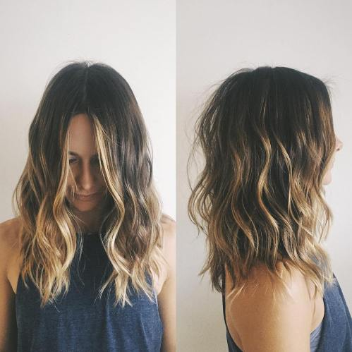Wavy Lob With Choppy Ends