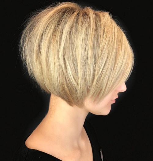 Short Blonde Bob Haircut For Thick Hair