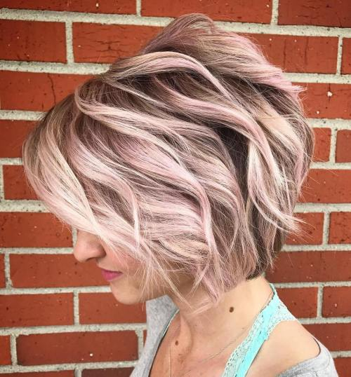 Blonde Balayage With Pink Tint