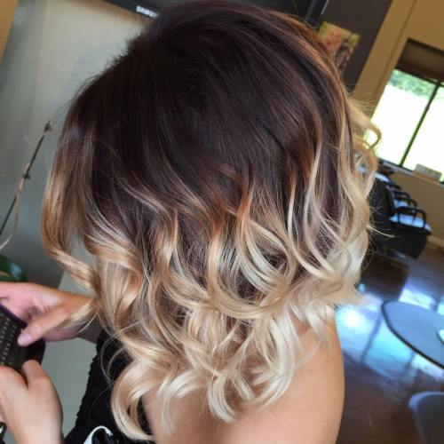 30 short ombre hair options for your cropped locks in 2017 brown to blonde ombre bob urmus Image collections