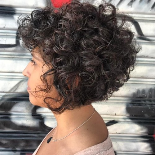 Short Bob Haircut For Curly Hair