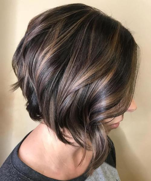 Wavy Angled Bob With High-Shine Finish