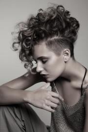 exquisite curly mohawk hairstyles