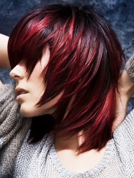 25 thrilling ideas for red ombre hair black to red ombre urmus Gallery