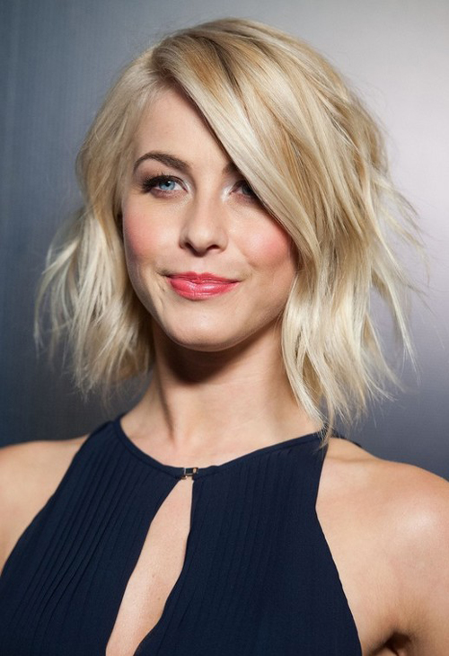 modern blonde wispy shag haircut