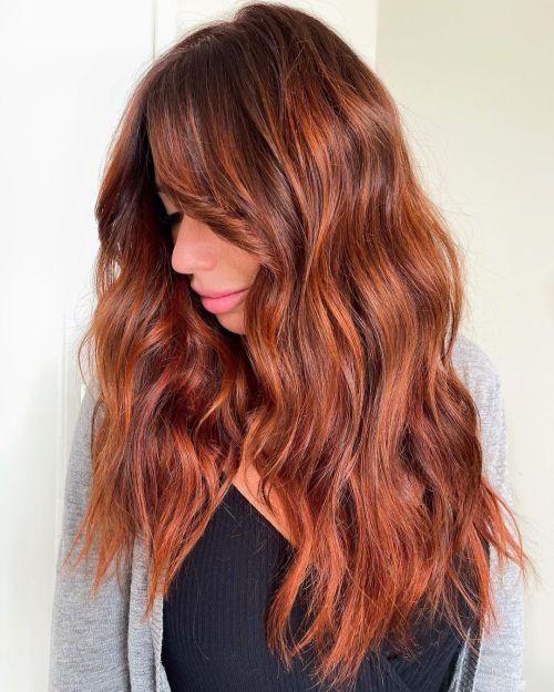 Copper Balayage for Auburn Hair