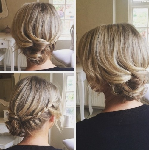 Romantic Side-Braided Updo