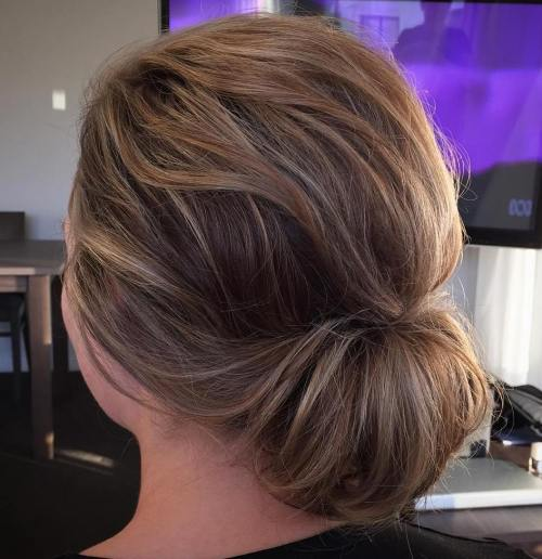 Low Bun for Medium Fine Hair