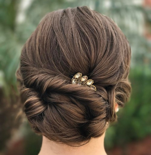 low bun hair style 60 easy updo hairstyles for medium length hair in 2018 4178