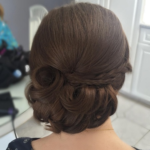 60 easy updo hairstyles for medium length hair in 2017 low formal updo for thick hair pmusecretfo Choice Image