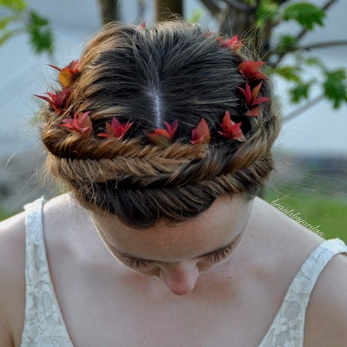 fishtail headband updo for teenage girls