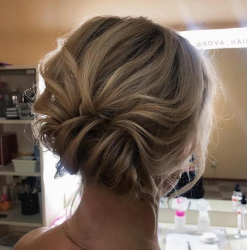 Messy Updo for Medium Fine Hair