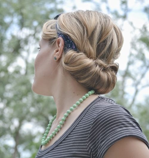 Rolled Chignon Updo