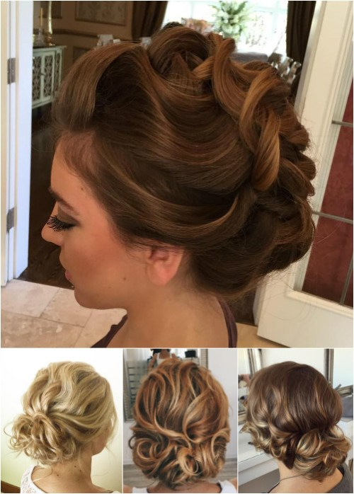 loose curly updos for medium length hair