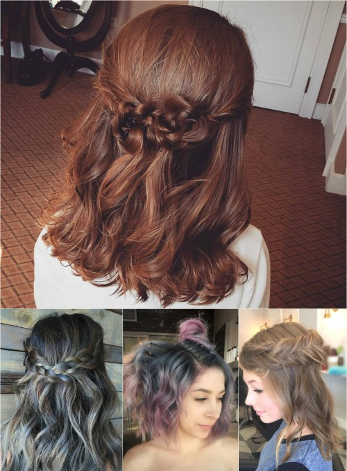 60 easy updo hairstyles for medium length hair in 2017 half updos pmusecretfo Choice Image